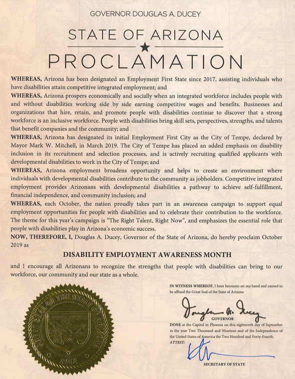 Image of NDEAM Proclamation