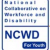 Blue stacked text reading National Collaborative on Workforce and Disability NCWD for Youth